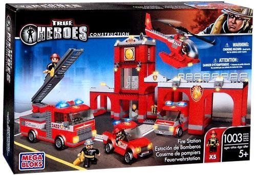 True Heroes Mega Bloks Set Fire Station by True Heroes