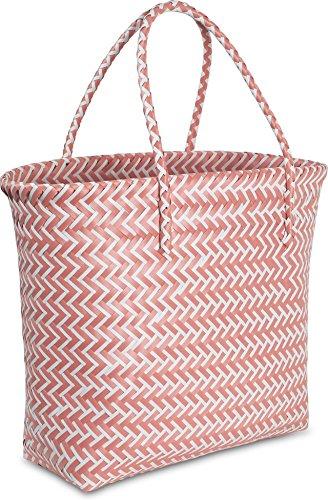 normani Große Strandtasche/Einkaufstasche - Picknicktasche - pflegeleicht 16 Liter Farbe Red