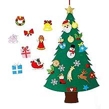 MeeQee DIY Fieltro Conjunto de Árboles de Navidad con Adornos para Niños 28 Unids Año Adornos