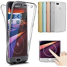 Xiaomi Mi 5 x FUNDA 360 grados, Xiaomi Mi A1 Teléfono Móvil Fundas Silicona Transparente delantera y trasera Protección TPU Silicona Case para Xiaomi Mi A1, ...