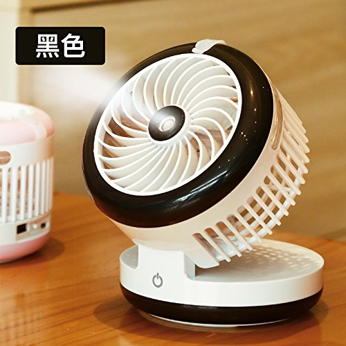 OME&QIUMEI Fan Spray Water Cooler Fan Student Dormitory Usb Hand Held Rechargeable Small Electric Fan. Black 00