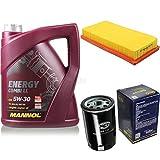 Filter Set Inspektionspaket 5 Liter MANNOL Motoröl Energy Combi LL 5W-30 API SN/CF SCT Germany Luftfilter Ölfilter