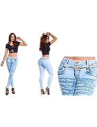 Vaqueros Jeans Rasgados Wonder / Push Up Súper Pitillo Skinny Jeans Efecto Wonder Colombiano 100% Levanta Glúteos Pantalon Mujer
