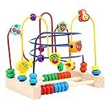 Giplar Legno Cubo di Multi Funzione Giocattoli Rotolamento Bead Maze Roller Coaster Giochi di Legno per Bambini.