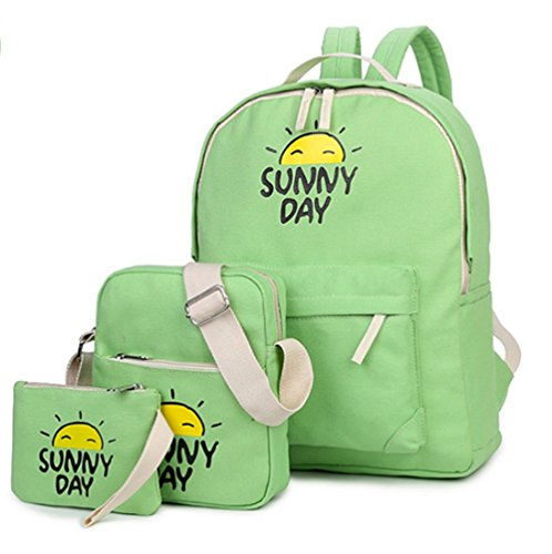 yaagle-fashion-canvas-backpack-school-student-bag-shoulder-bag-rucksack-for-boys-and-girls3pcs