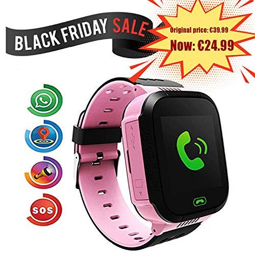 Smartwatch para Niños, con SOS Anti-Lost Alarm, GPS+LBS Localizador/Tracker, Perímetro de Seguridad,...
