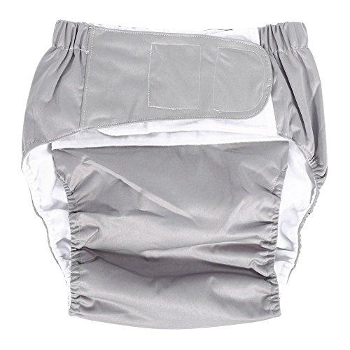 Windelhosen gegen Inkontinenz für Erwachsene, verstellbare Schicht aus Stoff, waschbar, wiederverwendbar, Inkontinenz-Hygieneartikel für ältere Menschen, Größenpalette 52 - 108 cm