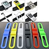 #7: 05 Pcs (Assorted Colour) Cycling Bike Bicycle Silicone Elastic Rubber Strap Bandage Tie Flashlight Holder