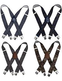 Bundle Monster 4pc Diverses Modèle X-Back Réglable Barrette Unisexe Jarretelle