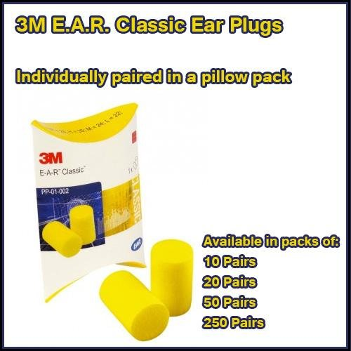 E.A.R. Classic ear plugs Pack 50 Pairs -