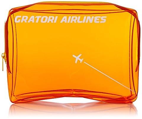 GRATORI AIRLINES vinyl pouch L Orange (japan import)