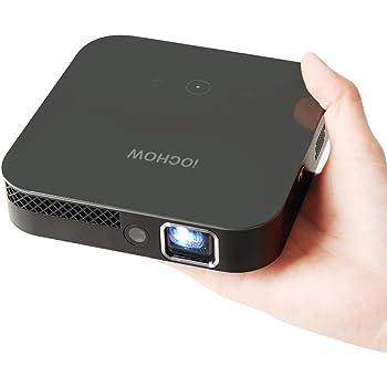 iOCHOW iO4 Mini Vidéoprojecteur, 1080P Vidéo HD Avec DLP 3000 Lumens, Rapport De Contraste 10000: 1, 30 000 Heures De Vie Animée, Vidéoprojecteur Portable