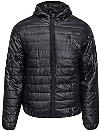 Soul Star Mens Hooded Puffer Jacket Casual Quilted Padded Winter Coat