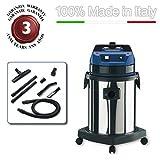 EOLO ASPIRAPOLVERE PROFESSIONALE PER SOSTANZE TOSSICHE NOCIVE + KIT ACCESSORI LP33 (33 litri) MADE IN ITALY