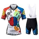 Thriller Rider Sports Damen Rest Your Mind Sport & Freizeit MTB Fahrradbekleidung Radtrikot und Trägerhose Anzüge 2X-Large