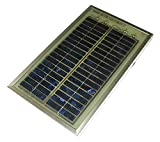 6V Solarpanel 3W mit div. Ladekabeln 175x290mm #932 12V