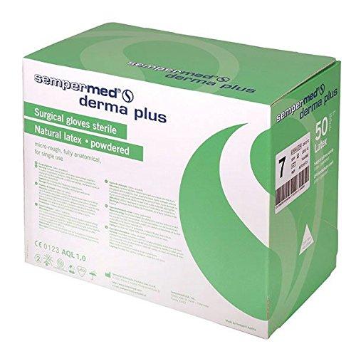 Sempermed 07075 Derma Plus Op-Handschuhe, Mittel-7.5 (50-er Pack)