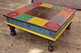 Classic Indian painted wooden Bajot table