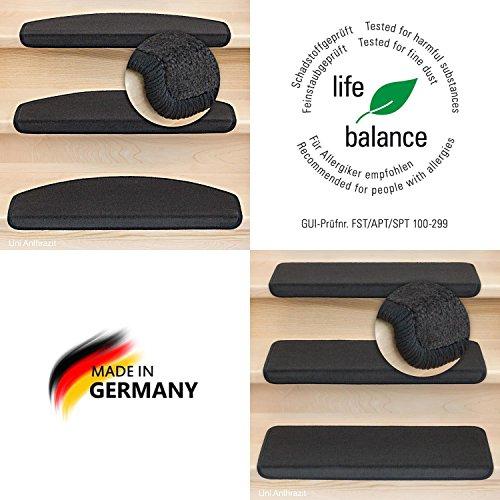 Kettelservice-Metzker® Stufenmatten Vorwerk Uni Einzeln und SparSet's 1 Stück Halbrund