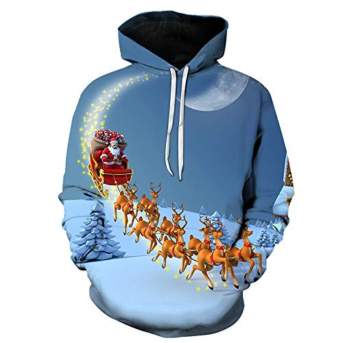 Boutique sale 2019 Herbst und Winter Herren Kapuzenpullover 3D gedruckt Cartoon Santa Elk Loose Large Size Kapuzenpullover 3D gedruckt Christmas Series Couple Kapuzenpullover