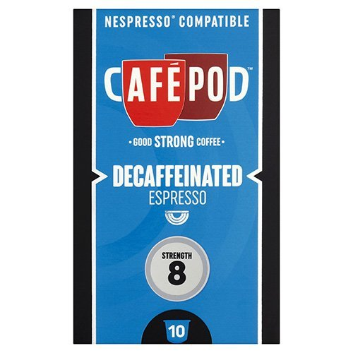 Choose CafePod Decaf Pack Of 10 Nespresso Compatible Coffee Capsules from CafePod