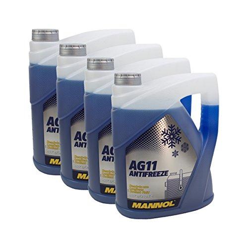 4x MANNOL MN4011-5 Longterm Antifreeze AG11 -40°C Kühlerfrostschutz 5L