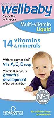 Vitabiotics Wellbaby Liquid Multivitamin, 150 ml, Pack of 3 from WELLBABY