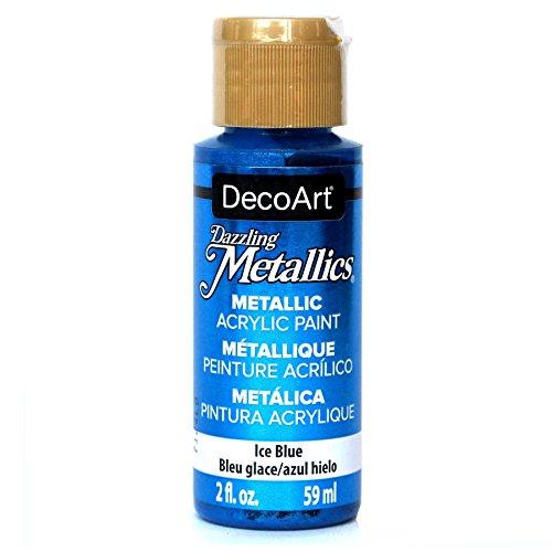 DecoArt Americana Acrylic Metallic Paint, Ice Blau