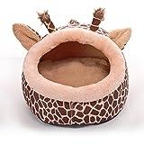 Dixinla Letto per cani Metà curvati cervi del grano Nest cane bed del caldo nido domestico gatto, 34 * 36 * 25cm