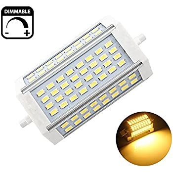 Lampada led r7s lineare 118mm 30w 350w natural white for Lampada alogena lineare led