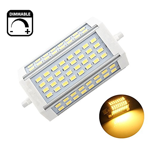 30W Dimmbare R7s LED-Scheinwerfer-Birnen-118mm Warm Weiß 3000K 200 Degrees Double Ended J118 R7s LED Lampe 250W Halogen-Ersatz -