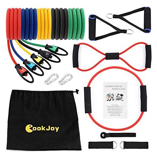 Cookjoy riabilitazione dell'allenamento delle bande di resistenza,bande ideali per riabilitazione, fitness banda elastica,allenamento resistenza, yoga, stretching