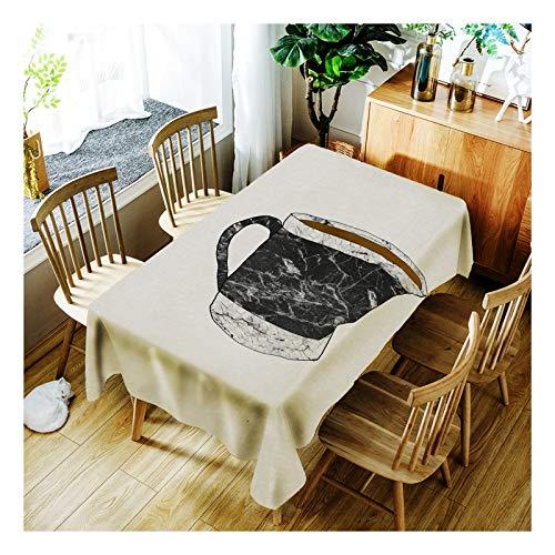 ZHAOXIANGXIANG Digital Bedruckte Polyester Wasserdicht Tabelle Mat Kreative Marmoriert Kaffeetasse...