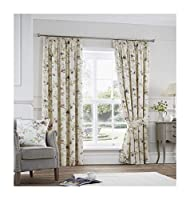 """Trailing Floral Flowers Purple Fully Lined 90"""" X 90"""" - 229cm X 229cm Pencil Pleat Curtains from Curtains"""