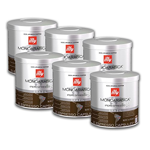 Illy Espresso Kapseln Iperespresso Monoarabica Brasilien 6 x 21 St. = 126 St.