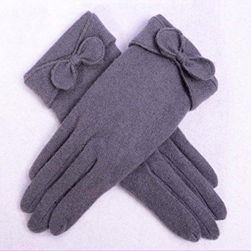 Nœud décoratif filles mignonnes peluche de peluche gants doigts gant monochrome