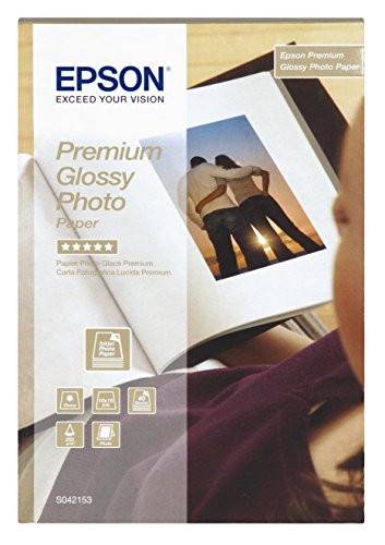 Epson C13S042153 Premium glossy photo paper inkjet 255g/m2 100x150mm 40 Blatt Pack (Epson Glossy Photo Paper)