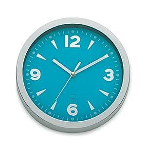 Kela 17160 horloge murale diamètre 20 cm, coloris bleu turquoise, 'Tokyo'