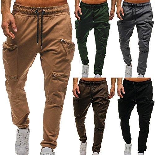 UJUNAOR Mann Jogger Cargo Herren Chino Jeans Hose Slim Fit Herren Stretch Freizeithose Militär Hose Army