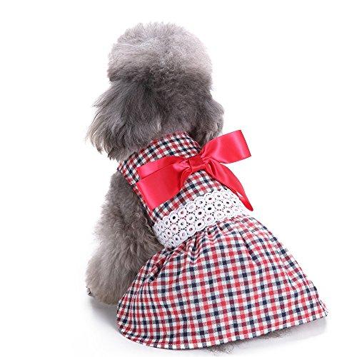 Stitch Hunde Für Kostüm (Hund Kleid Yuno Sweetie Band Hund Kleidung Cozy Hund Shirt Haustier Prinzessin Kleid Up für Cat)