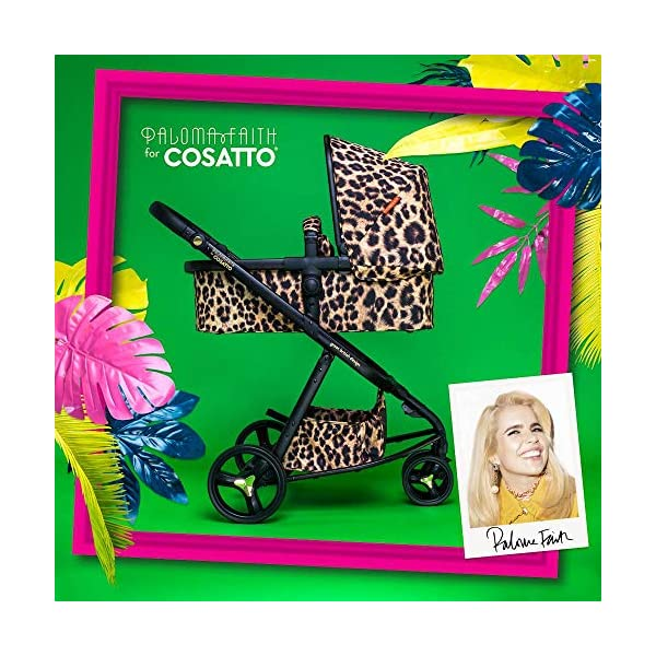 Cosatto Paloma Faith Giggle Pram and Pushchair Hear Us Roar - Leopard Print Cosatto Giggle 3 is your classic nippy 3-wheeler, lightweight but sturdy and super easy to use The from-birth carrycot, (suitable for occasional overnight sleeping), converts to pram mode Reversible pushchair unit when they're ready to sit up 6