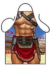 Idea Regalo - Iconic Aprons - Grembiule da cucina, sexy, da uomo, motivo: gladiatore