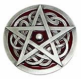 Keltischer Knoten & Pentagramm Gürtelschnalle in Dunklen Rote - Authentische Dragon Designs Markenprodukt