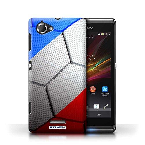Kobalt® Imprimé Etui / Coque pour Sony Xperia L/C2105 / Allemagne conception / Série Nations de Football France/Français