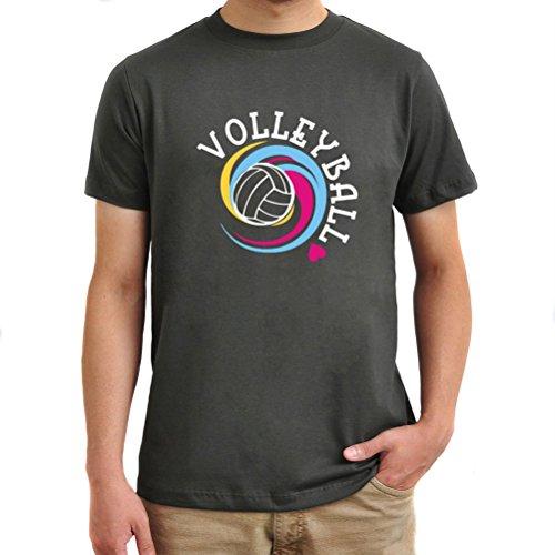 Maglietta Volleyball colors Argento brunito