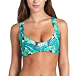 YoungSoul Maillot de bain femme – Bikini push up – Hauts de maillots bretelles croisées et imprimé complet – Bas de maillots taille basse à doubles brides