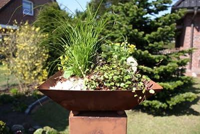 Rost Schale S01 Schalen Pflanzschale Rostsschale Rostschalen Deko von Jabo-Design auf Du und dein Garten