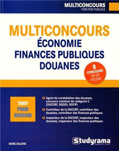 Carrières économie, finances publiques, douanes