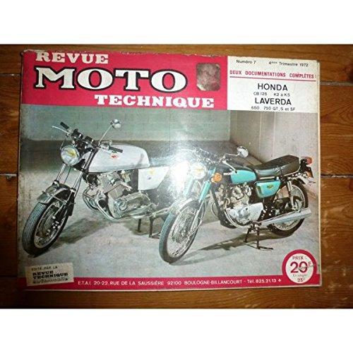 Rmt- Revues Techniques Moto - CB125 650 750 Revue Technique moto Honda Laverda Etat - Bon Etat Occasion