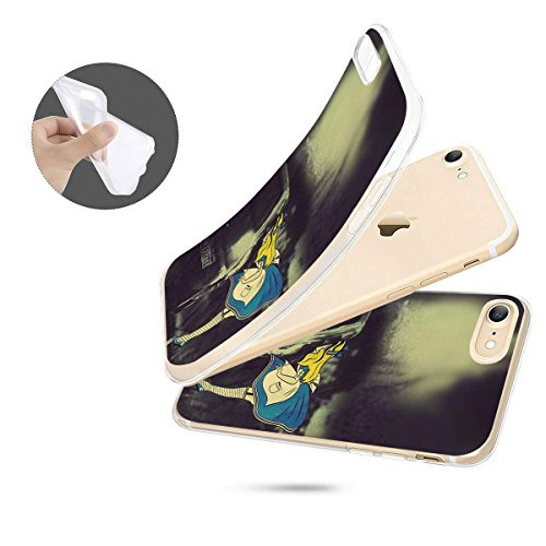 finoo | iPhone 8 Weiche flexible Silikon-Handy-Hülle | Transparente TPU Cover Schale mit Motiv | Tasche Case Etui mit Ultra Slim Rundum-schutz |Schmetterling bunt Tee Party